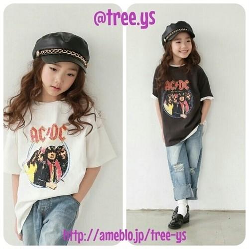 【値下げ!】再入荷!韓国子供服⭐110cm~150cm ロックTシャツ