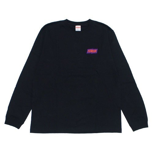 """FGMAN"" Embroidered L/S Black"