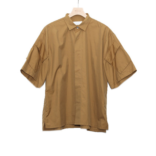 WELLDER【ウェルダー】Flap Pocket Short-Sleeve Shirt (KHAKI)