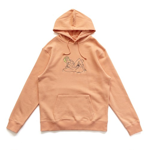 CHRYSTIE NYC (クリスティーニューヨーク) / WOMEN ON THE CHAIR HOODIES -WASHED ORANGE-