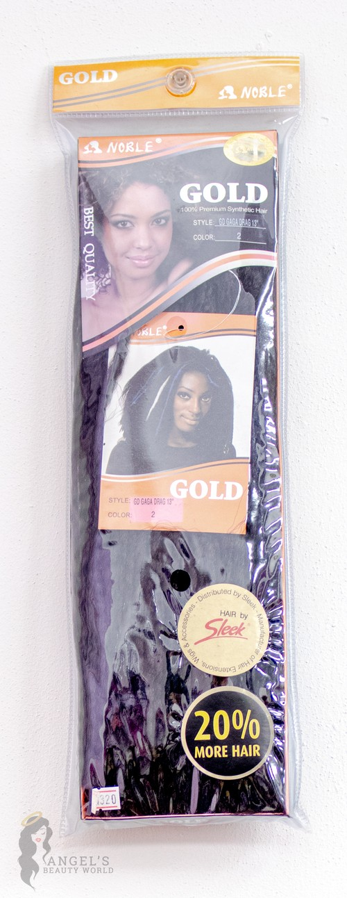 """Gold: Synthetic Hair 13"""" (Black)"""