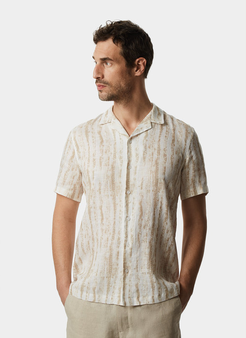 SHORT-SLEEVE BOWLING SHIRT WITH PRINT