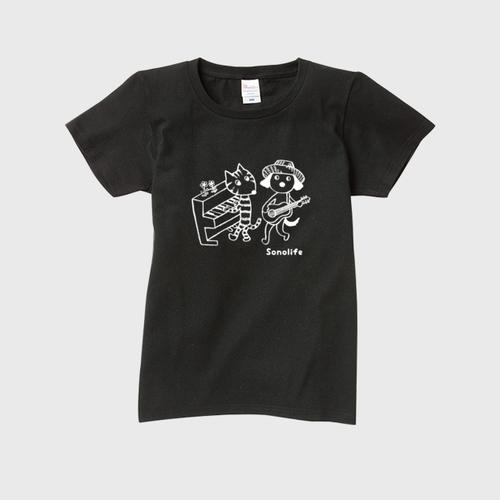 レディース Tシャツ 「ソノライフ Duo-Style カラー;ブラック」