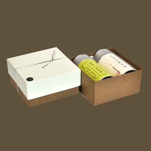 大缶2本箱 八十八夜の茶/抹茶入玄米茶