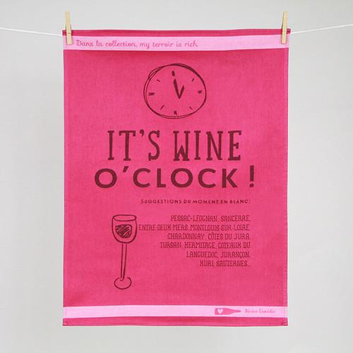 ティータオル ワイン・オクロック (ワインの時間です♪)