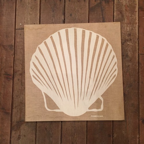 "70's Fabric Wallhanging, ""Shell"""