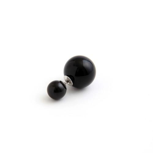 MAYU/PEARL RIVETS/8mm Black,14mm Black Pearl(片耳)