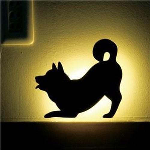 SHIBA WALL LIGTH/LED照明 【3 ふりふり】【2個セット】 音感センサー内蔵 自動消灯