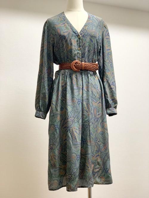 Vintage Silk Paisley Dress