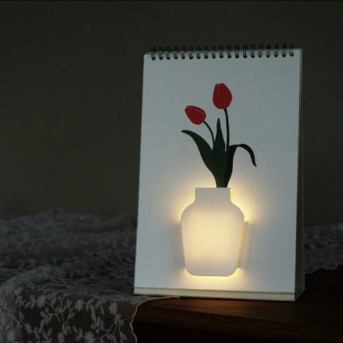 page by page led room light flowers / アート フラワールームライト 照明 韓国雑貨