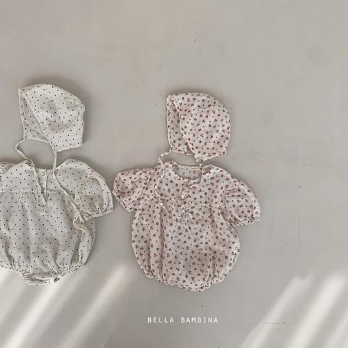 『翌朝発送』Rome body-suit〈bella bambina〉【baby】with hat