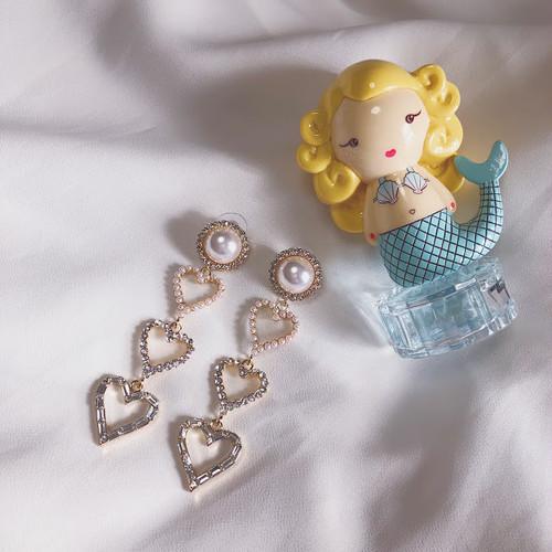 【予約】Heart drop long pierce