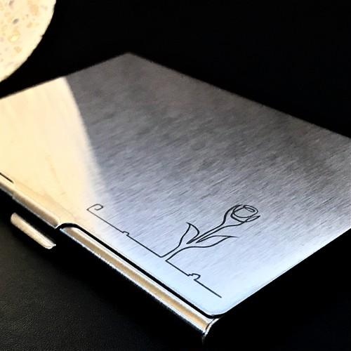 ステンレス名刺ケース「チューリップ」【名入れOP可】カードケース/名刺ケース