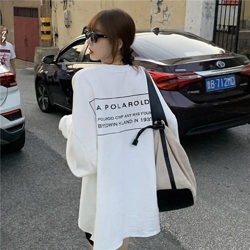 バックレタープリントTシャツ U4571