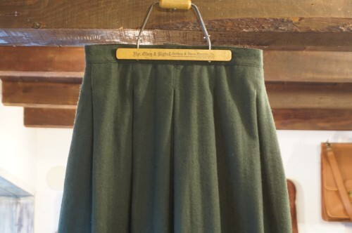 70's Woolrich green wool tweed Skirt