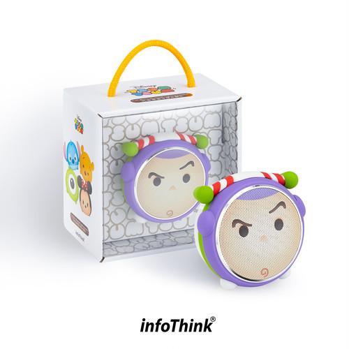 InfoThink Bluetoothスピーカー Disney ディズニー ツムツム LEDライト 5V/0.5A バズ・ライトイヤー BSP100-Buzz