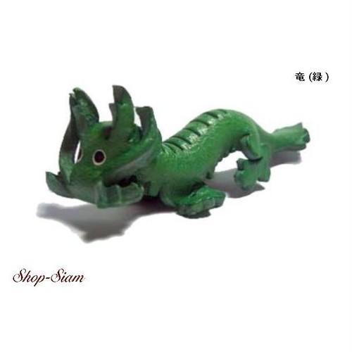 本牛革 アニマル キーチェーン 竜/Dragon ハンドメイド製