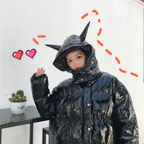 【アウター】秋冬韓国系カジュアルジッパーフード付きダウンコート