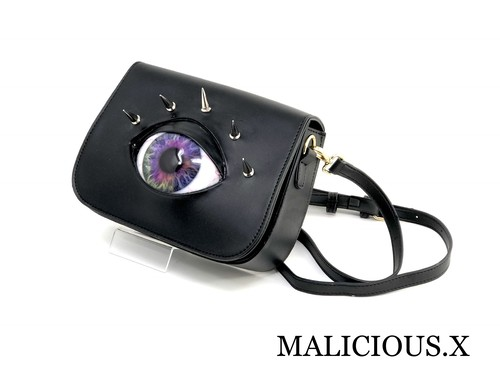 eye shoulder bag / violet rainbow
