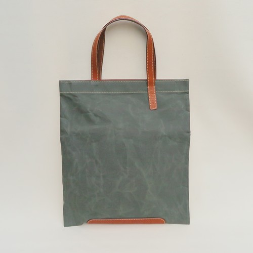Paraffin canvas flatbag KHAKI