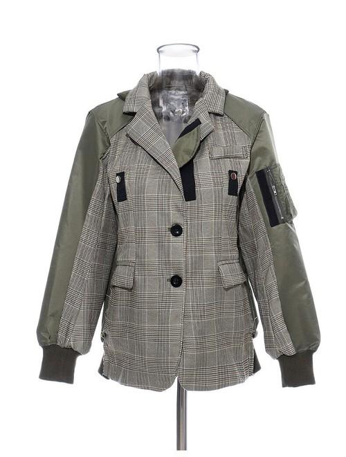 ★UNISEX    ルーズフィットアーミーチェックジャケット 韓国ファッション
