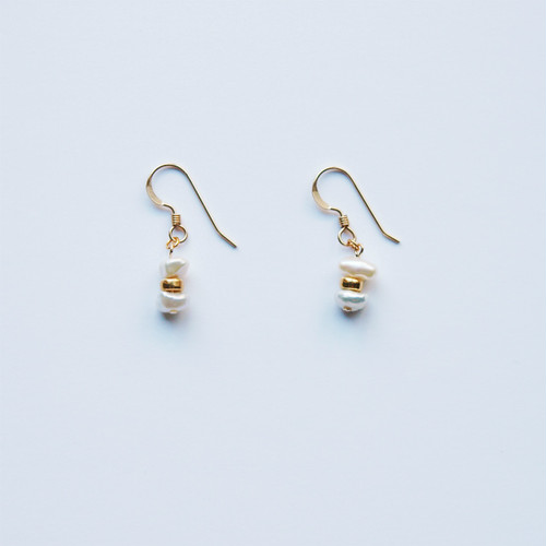 Freshwater Pearls Pierced Earrings