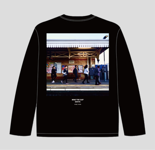 Setsuya Kurotaki/'MIND THE GAP' long sleeve T-shirts(01_BLACK) 送料込み