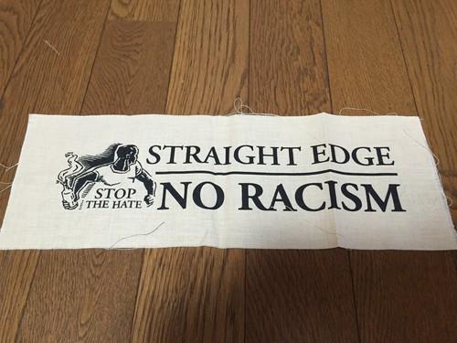STRAIGHT EDGE NO RACISM 布パッチ
