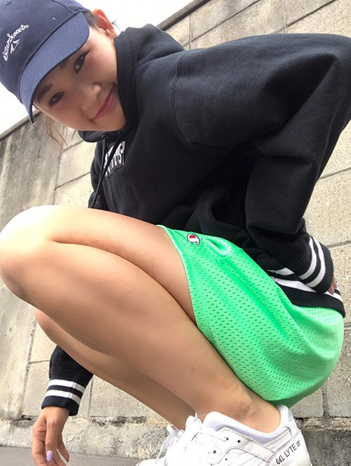 BSG BOX LOGO Champion®︎GIRLS MESH SHORT