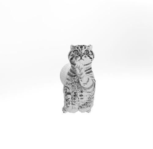 ティノ HOKUSHIN 両腕カフスボタン シルバー925 猫 ネコ ねこ