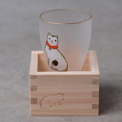 ねこ 枡酒グラス