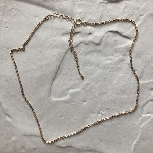 K14gf coin-choker necklace