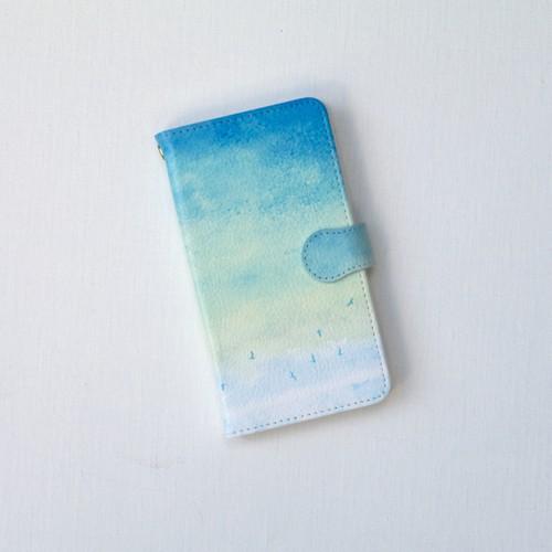 手帳型Androidケース「青い、空」
