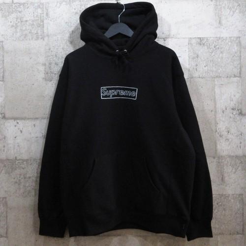 SUPREME 21SS KAWS Chalk Logo Hooded Sweatshirt