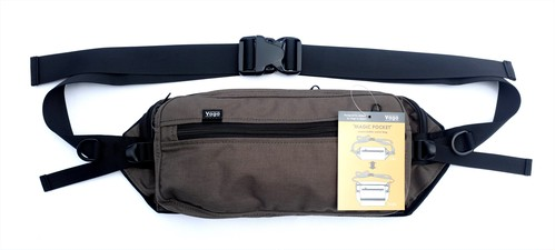 VAGA MAGIC POCKET EXPANDABLE WAIST BAG GREY バガ