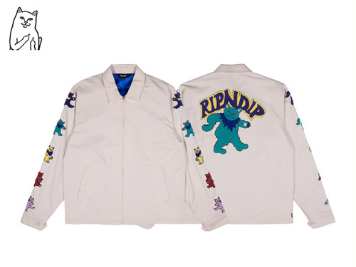 RIPNDIP|DANCING NERM COTTON JACKET (NATURAL)