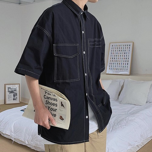 【FAST】ステッチデザインシャツ WBL6314