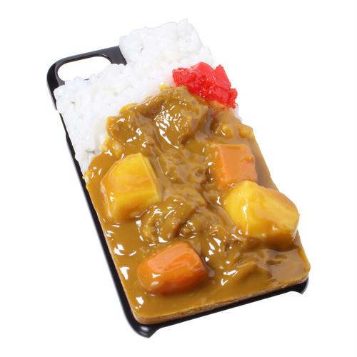 [8026]食品サンプル屋さんのスマホケース(iPhone7/iPhone8:カレーライス)【メール便不可】
