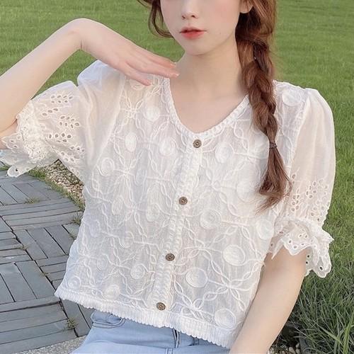 2色/キャンディスリーブナチュラルシャツ ・17318