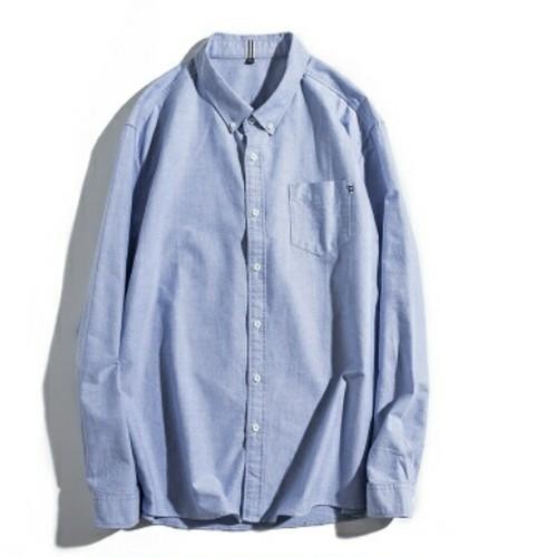 送料無料大きいサイズスーツコーデネイビー/白/グレー/ピンクボタンダウン長袖ワイシャツ