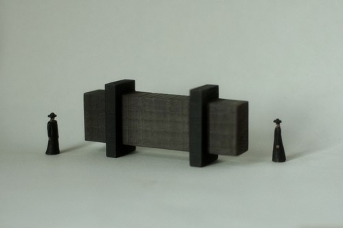 (019)wood figure-mini & construction 箱入 03