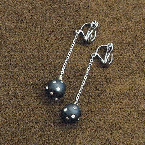 TOHO DeCoRe (キット) デコレボールのイヤリング(ブラック)