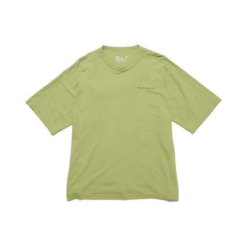 LOGO EMBROIDERED BIG T-SHIRT - GREEN