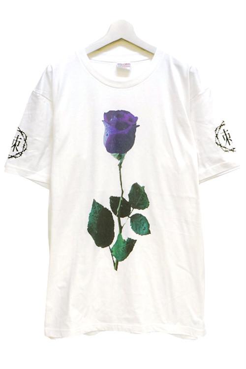 「棘薔薇/Rose Needle」 T-Shirt White