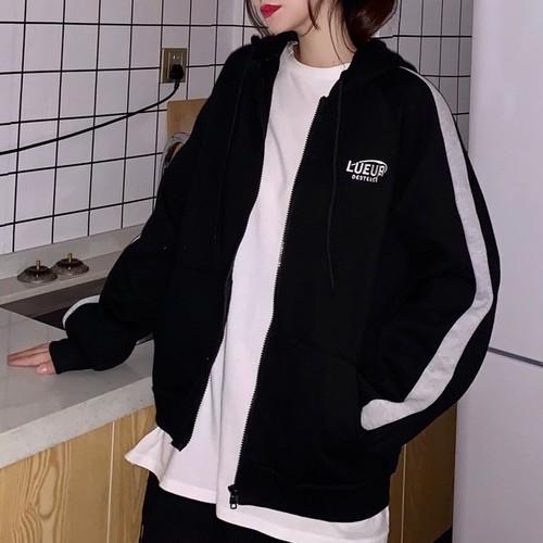 【アウター】合わせやすい韓国系刺繍フード付きジャージアウタージャケット26974196
