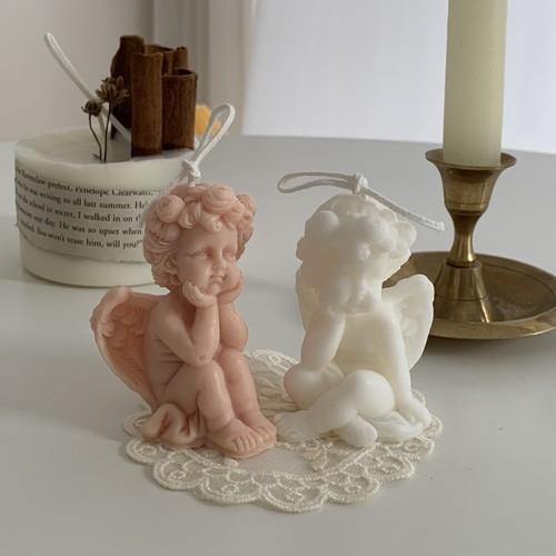 angel candle 2type 2colors / エンジェル キャンドル オブジェ 韓国 北欧