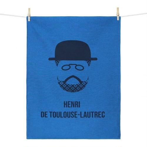 ティータオル HENRI DE TOULOUSE-LAUTREC(アンリ・ド・トゥールーズ=ロートレック) Tissage Moutet