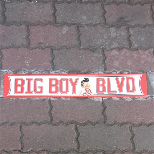 US embossed SIGN BIG BOY BLVD