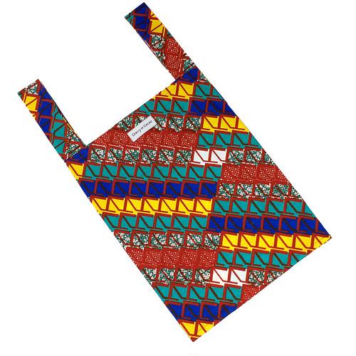 エコバッグ レジバッグ アフリカンテキスタイル(日本縫製) ウェーヴ2|アフリカ布 エスニック ガーナ布 アフリカンバティック
