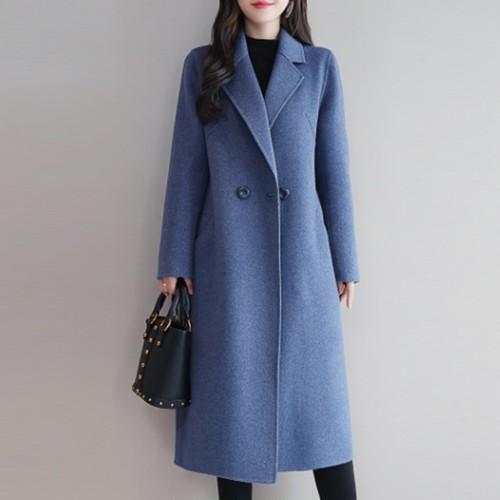 【アウター】ファッション気質溢れるダブルブレスト新作合わせやすいラシャ生地コート23689345